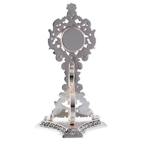 Reliquiar Barock Stil versilberten Messing 23cm 5