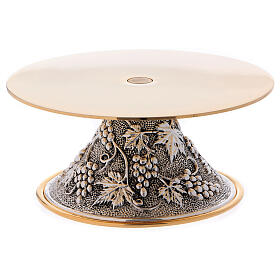 Monstrance stand round base with grapes decoration s1