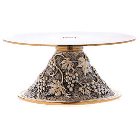 Monstrance stand round base with grapes decoration s3