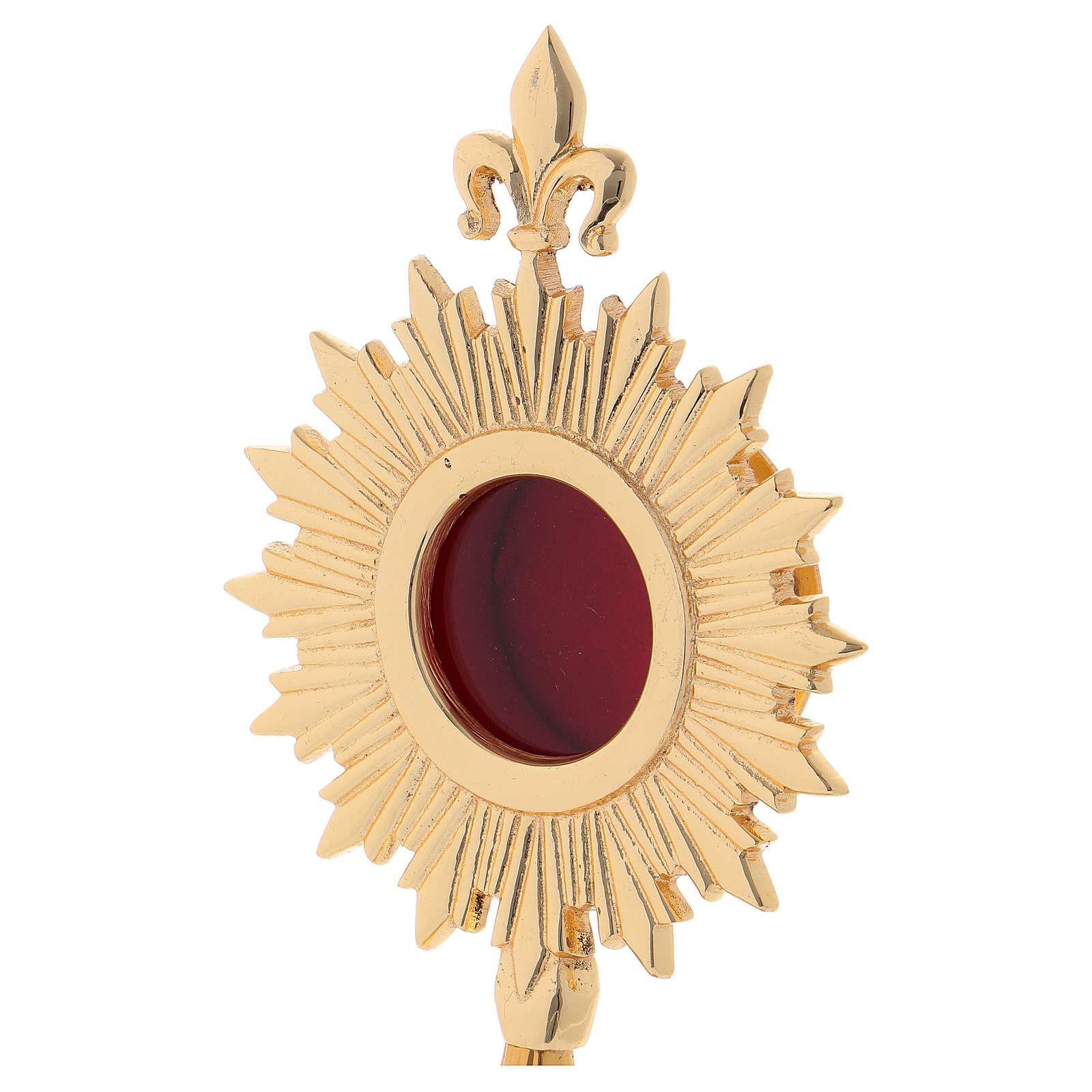 Reliquiario stile classico ottone dorato 24 cm 4