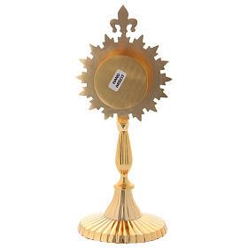 Reliquiario stile classico ottone dorato 24 cm s4