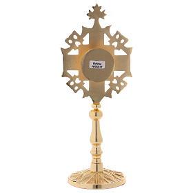 Reliquiario con zirconi bianchi e rossi ottone dorato 25 cm s5