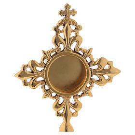 Reliquiario intarsiato ottone dorato 20 cm s2