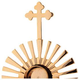 Reliquaire rayons croix trilobée h 32 cm s3