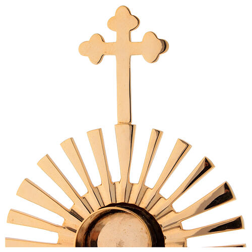 Reliquaire rayons croix trilobée h 32 cm 3