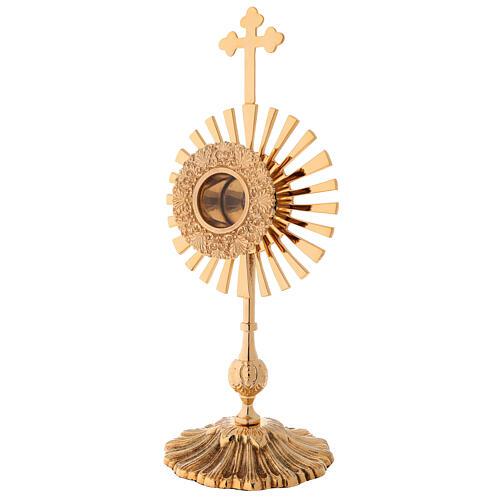Reliquaire rayons croix trilobée h 32 cm 4