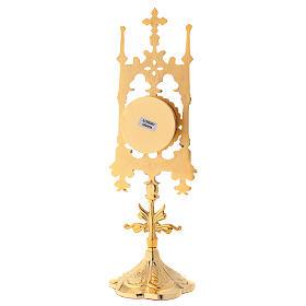 Reliquaire en laiton doré avec pierres 31 cm s6