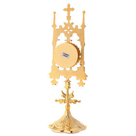 Gold plated brass reliquary with stones 12 in s6