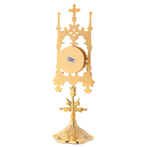 Gold plated brass reliquary with stones 12 in 6