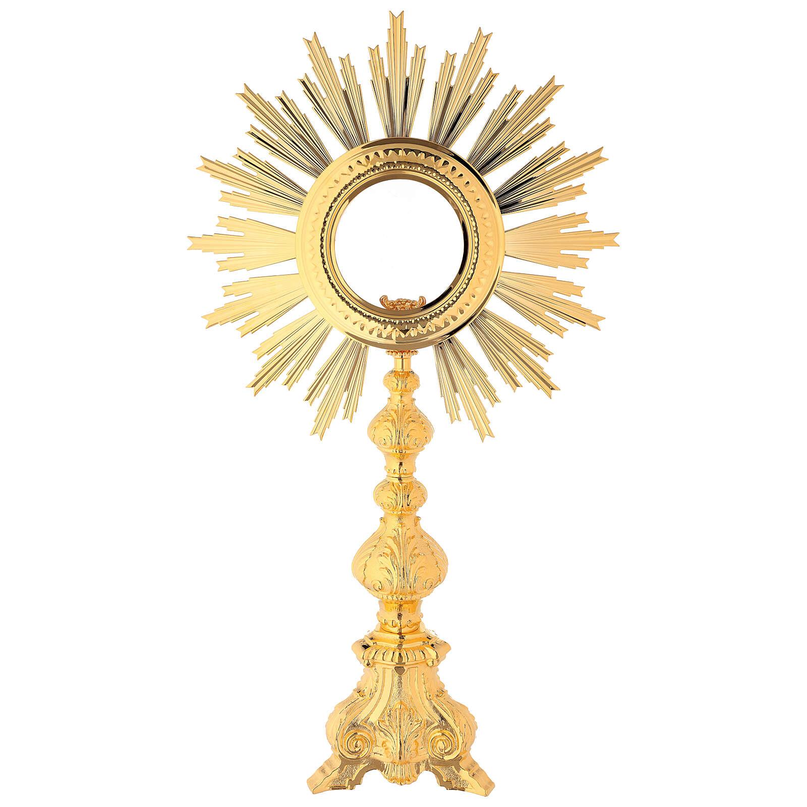 Ostensoir baroque bronze doré pour hostia magna 4