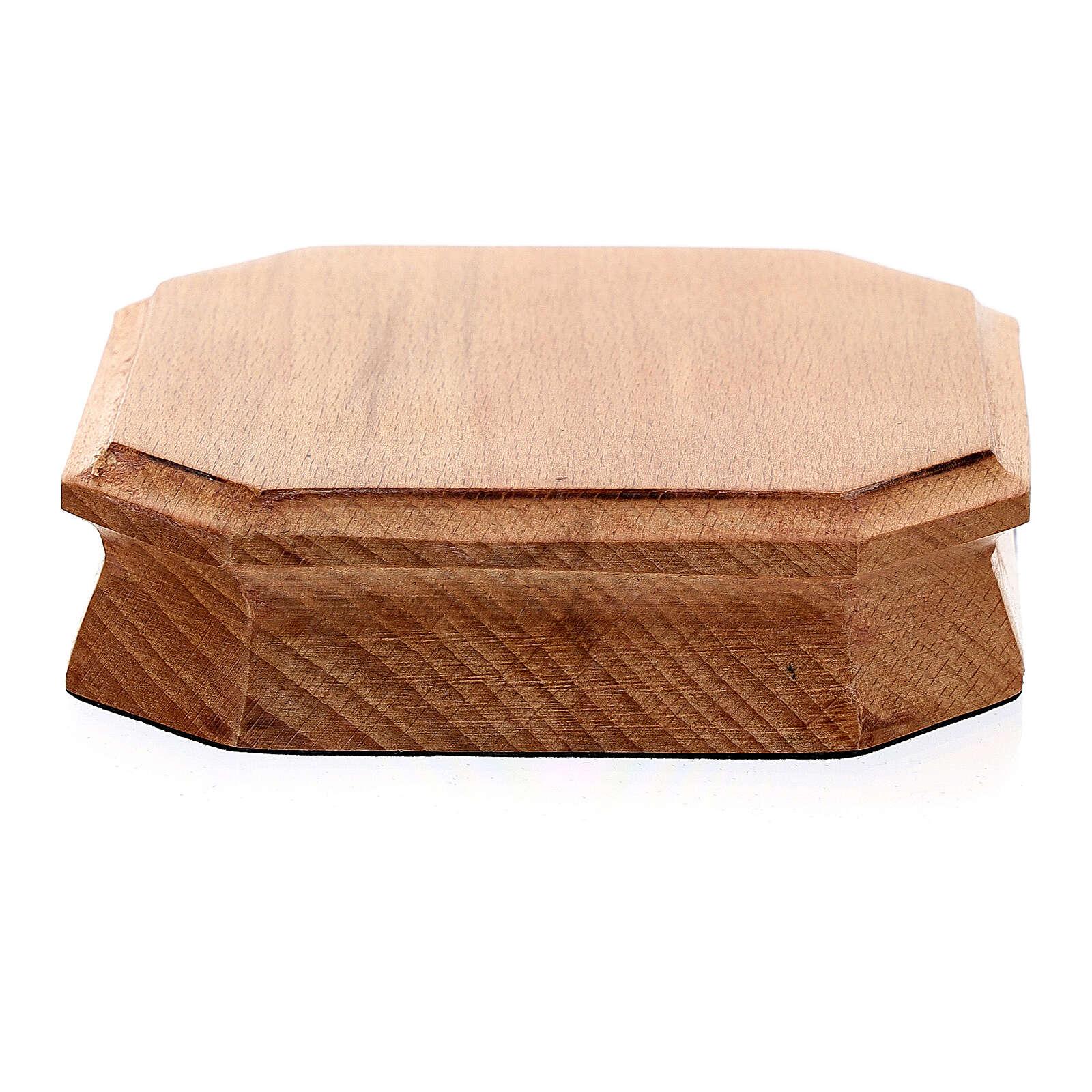 Trône octogonal bois clair 10x10 cm 4