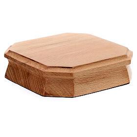 Tronetto ottagonale legno chiaro 10x10 cm s2