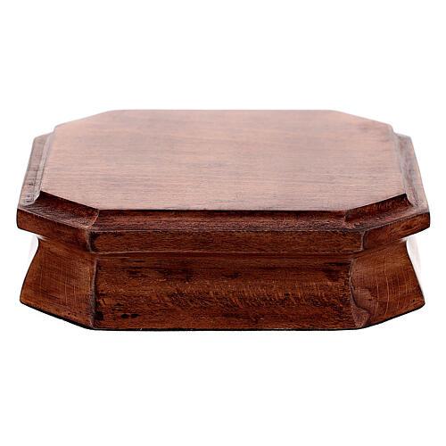 Base ostensorio madera oscura 10x10 cm 1