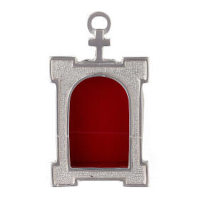 Wall arch reliquary of silver plated brass s1