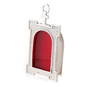 Wall arch reliquary of silver plated brass s2