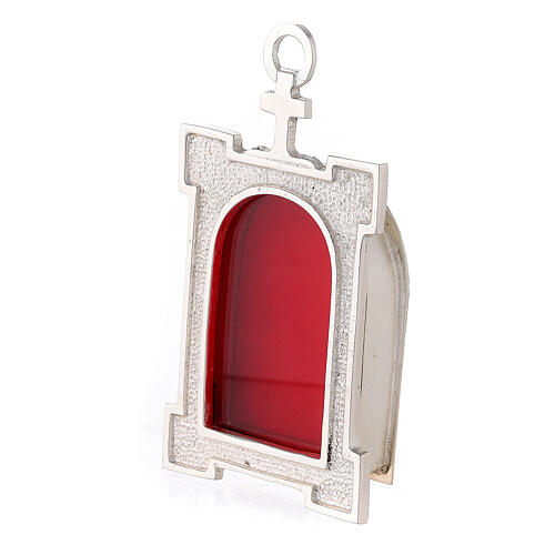 Wall arch reliquary of silver plated brass 2