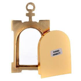 Relicario puerta de pared latón dorado terciopelo rojo s3