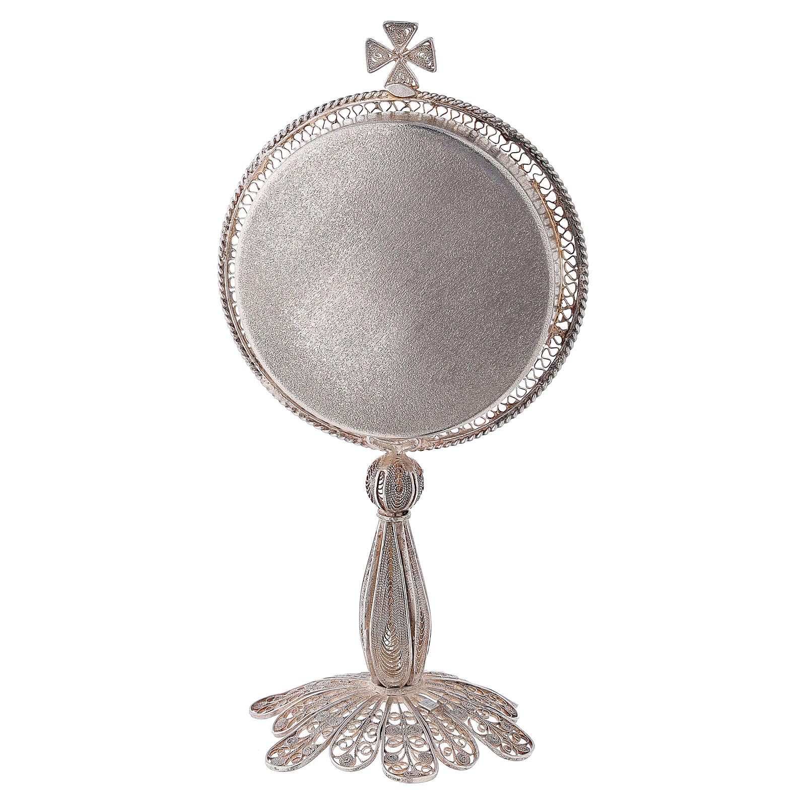 Reliquiario argento 800 filigrana di altezza 13 cm 4