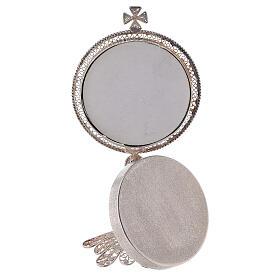 Reliquiario argento 800 filigrana di altezza 13 cm s4