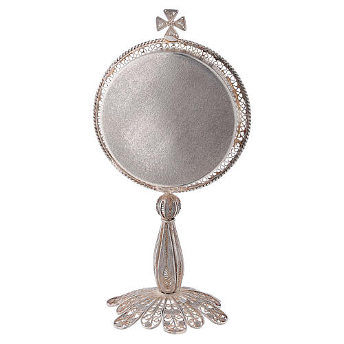 Reliquiario argento 800 filigrana di altezza 13 cm 3