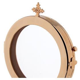 Ostensoir diamètre 8 cm laiton doré Moines Bethléem s3
