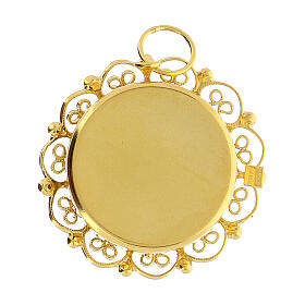 Reliquiario 2 cm argento 800 dorato filigrana s4