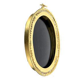 Relicario para reliquias ovalado filigrana plata 800 dorada 6x5 cm s2