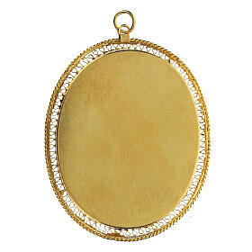 Relicario para reliquias ovalado filigrana plata 800 dorada 6x5 cm s4