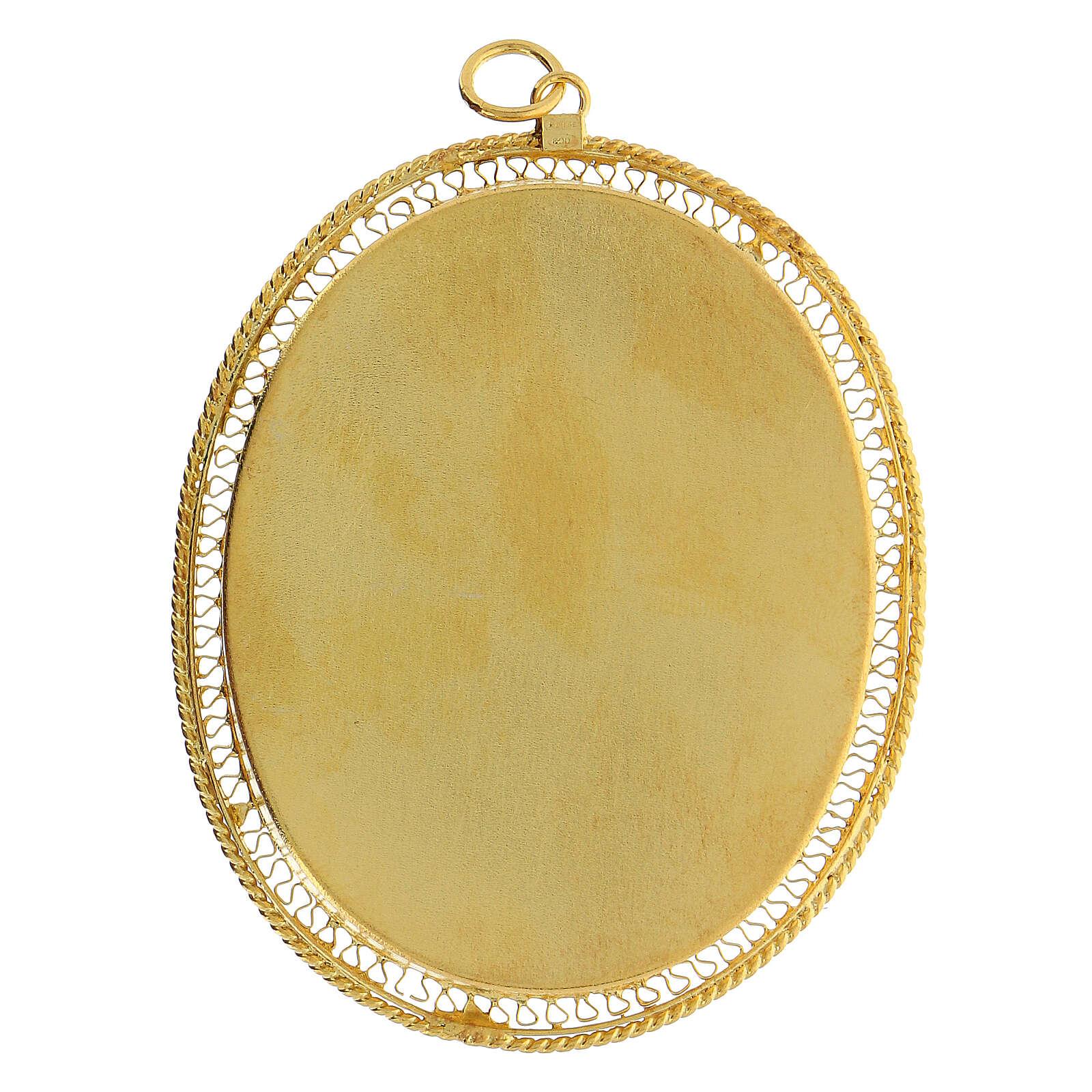 Relicario plata 800 JHS dorada cierre cremallera 5,5 cm 4