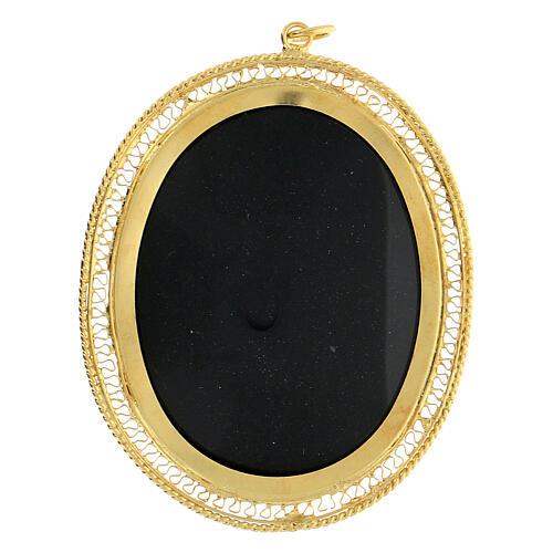 Relicario plata 800 JHS dorada cierre cremallera 5,5 cm 1