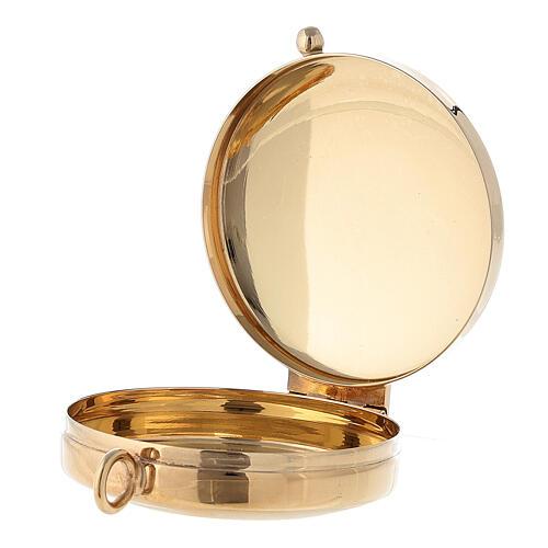 Relicario plata 800 JHS dorada cierre cremallera 5,5 cm 6