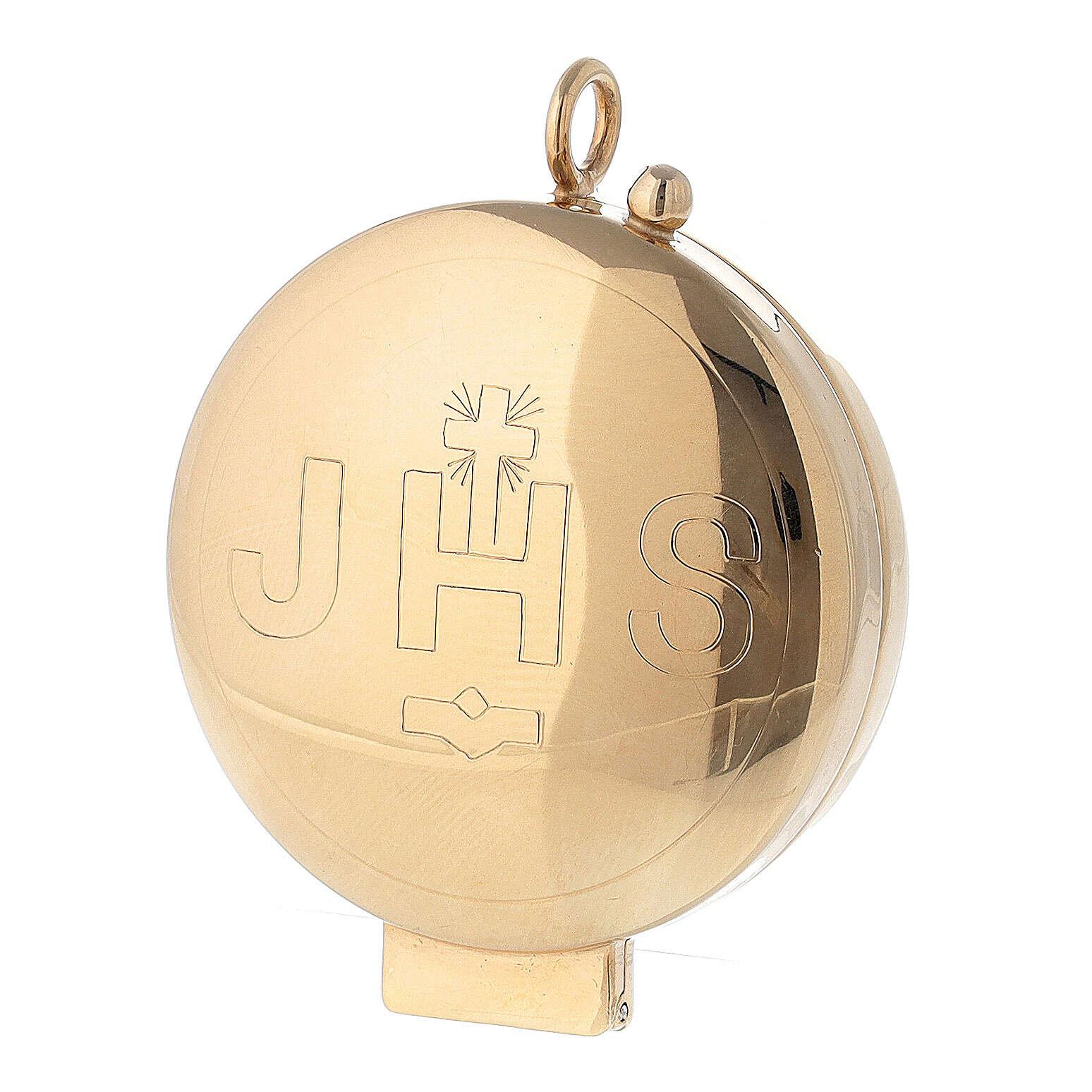 Ostensoir argent 800 JHS doré fermeture charnière 5,5 cm 4
