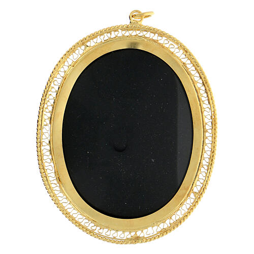 Ostensoir argent 800 JHS doré fermeture charnière 5,5 cm 1
