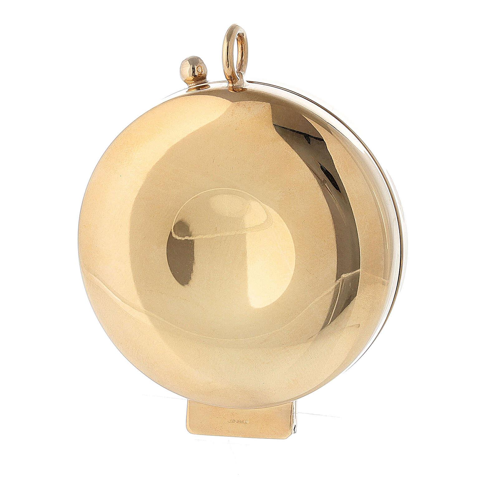 Teca argento 800 JHS dorata chiusura cerniera 5,5 cm 4