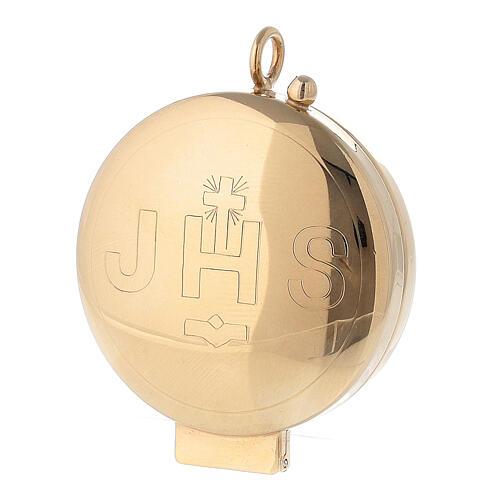 Teca argento 800 JHS dorata chiusura cerniera 5,5 cm 5