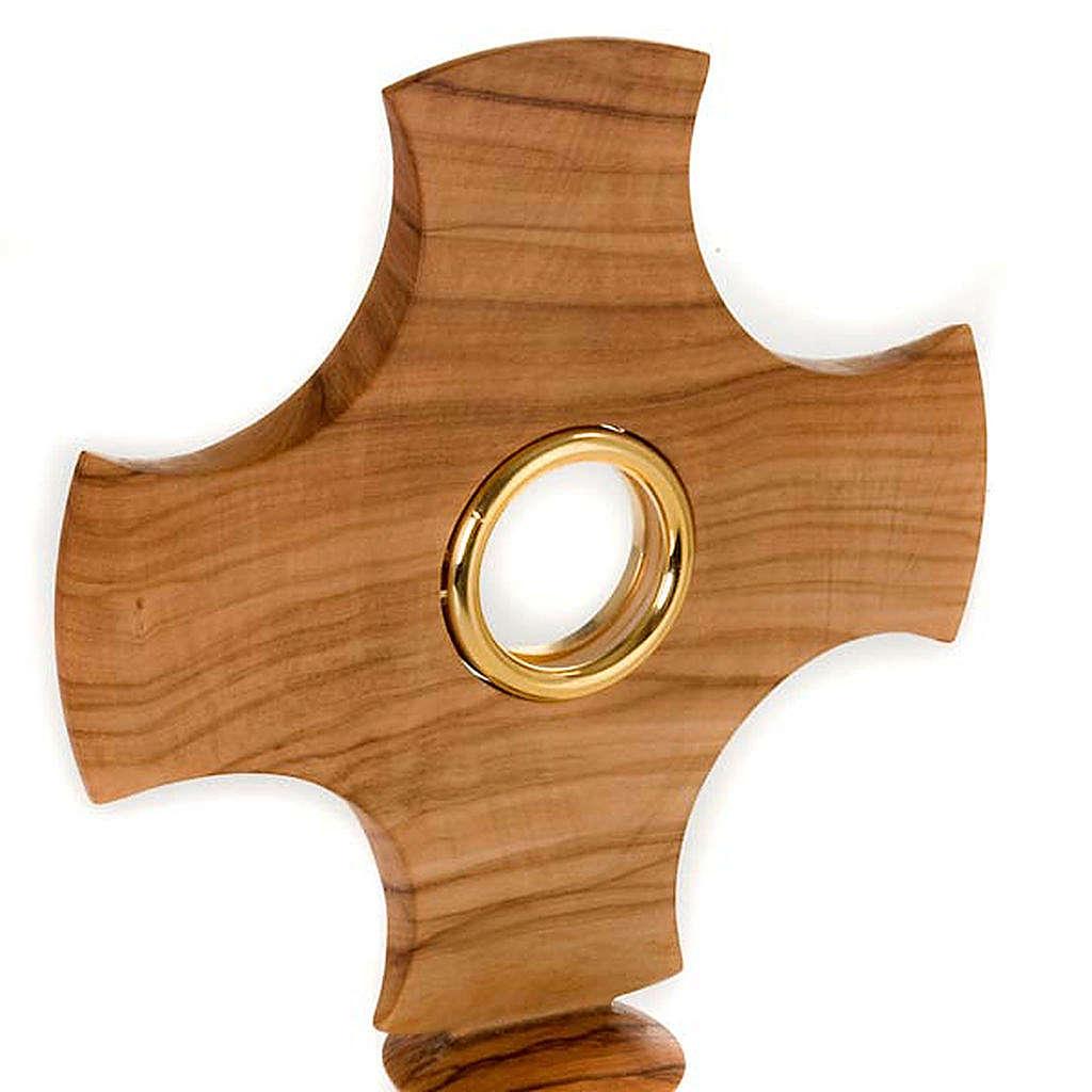Ostensorio in olivo a croce 4