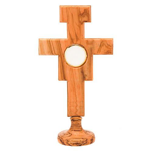 Ostensorio olivo cruz San Damián 1