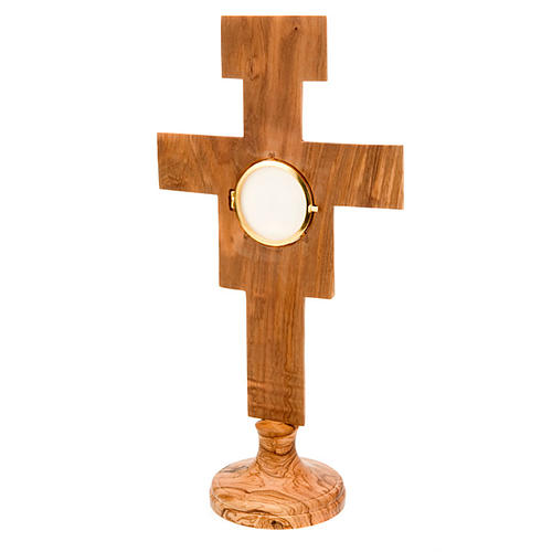Ostensorio olivo croce san Damiano 3