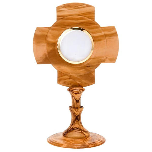 Custodia de Olivo  cruz diámetro 8cm 1