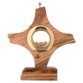 Ostensorio legno olivo stagionato di Assisi s1
