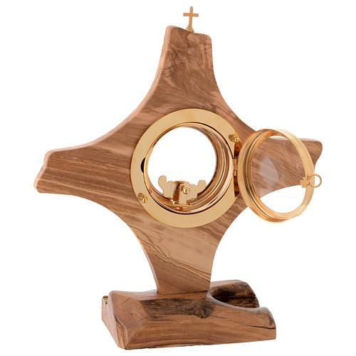 Ostensorio legno olivo stagionato di Assisi 4