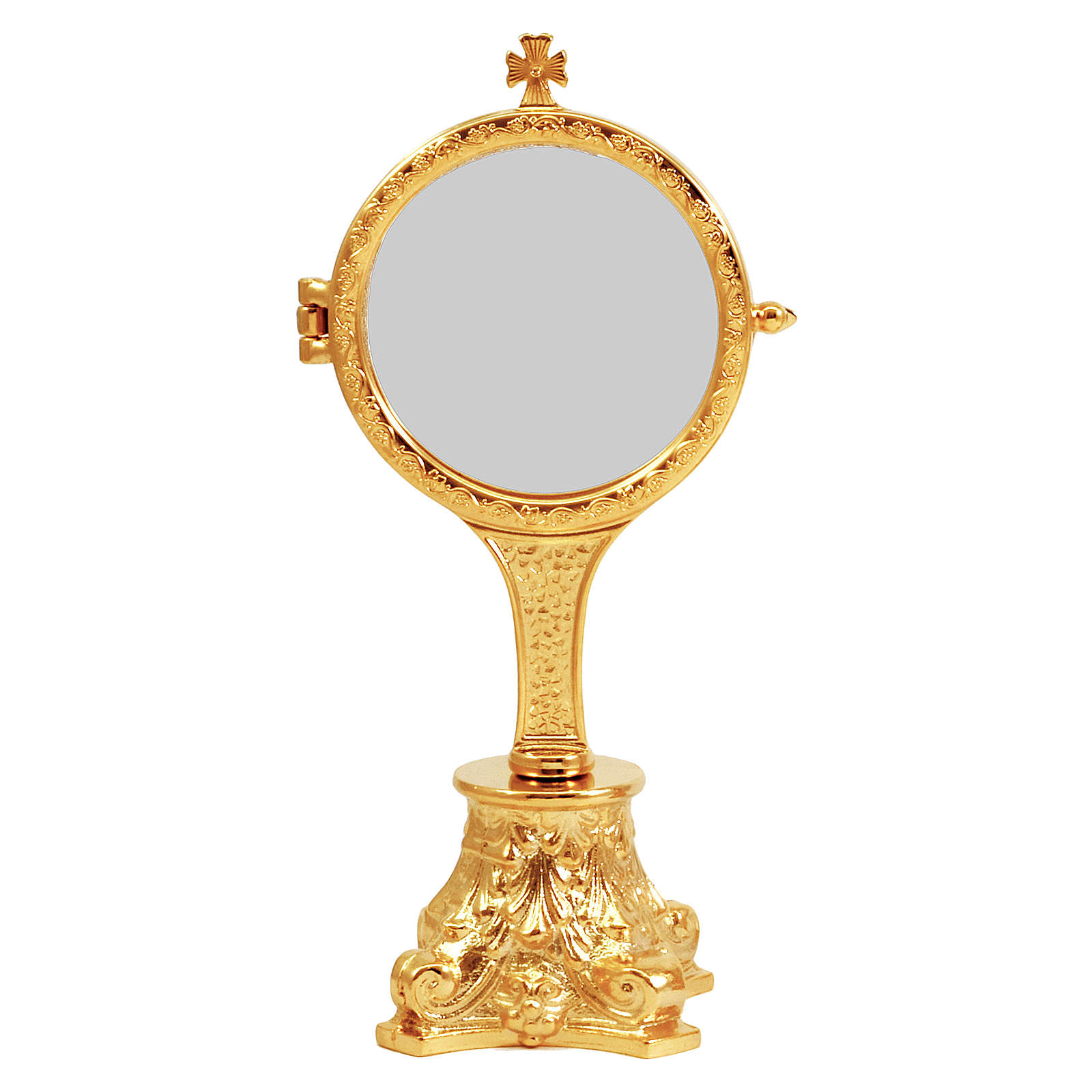 Golden monstrance with decorative capital as base, h. 20 cm 4