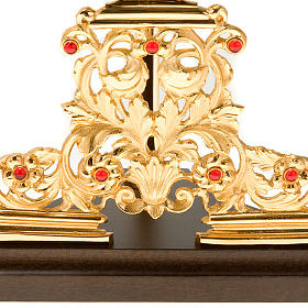 Relicario plateado/dorado con piedras s7
