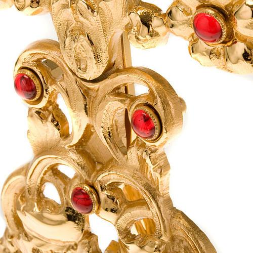 Relicario plateado/dorado con piedras 2