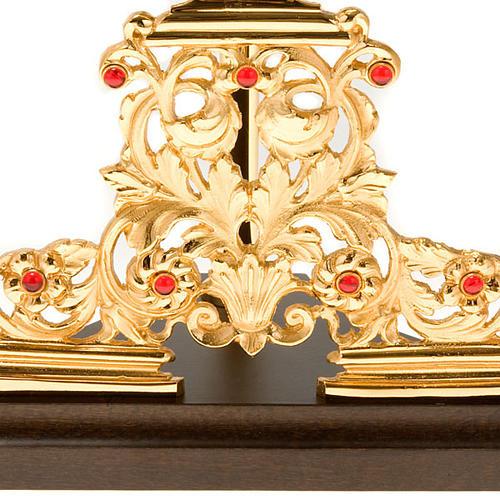Relicario plateado/dorado con piedras 7