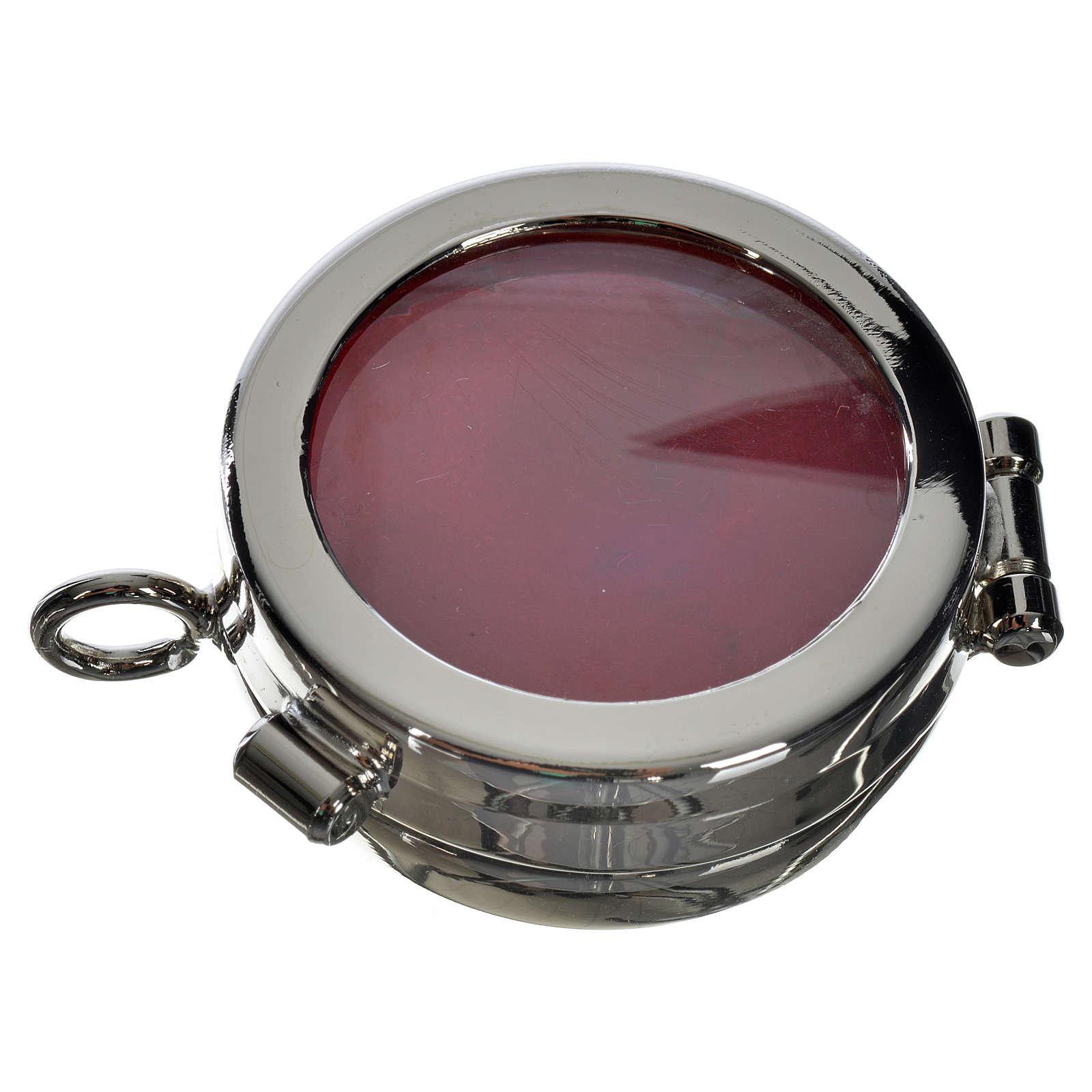Reliquiario ottone argentato diam. 3,5 cm 4