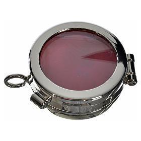 Reliquiario ottone argentato diam. 3,5 cm s1