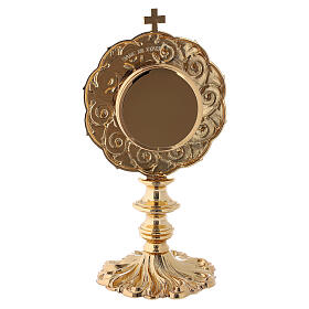 Reliquiario in ottone dorato h 21 cm s7