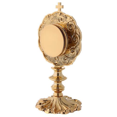 Reliquiario in ottone dorato h 21 cm 6