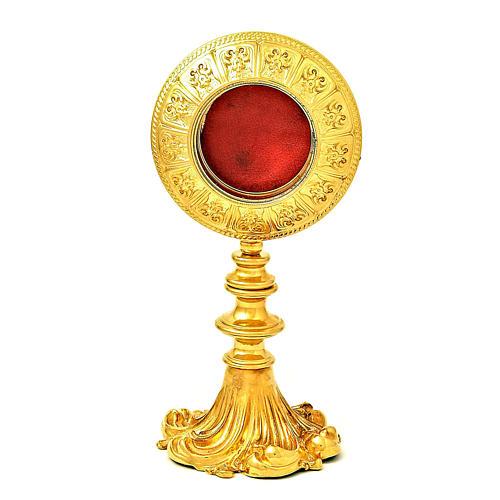 Reliquiario ottone dorato h 21 cm 1
